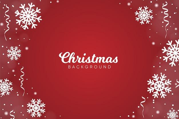 Kerst achtergrond met sneeuwvlokken decoratie
