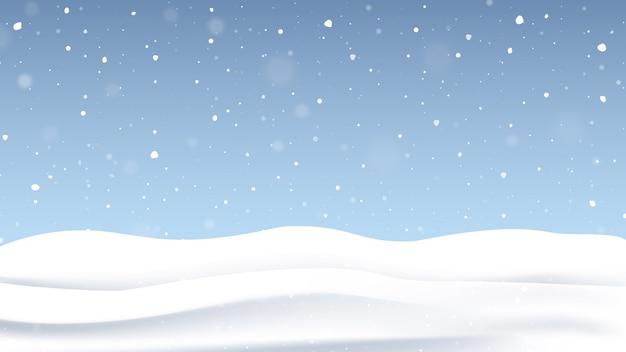 Kerst achtergrond met vallende sneeuw.