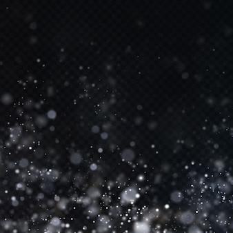 Kerst achtergrond van glanzend stof kerst gloeiende bokeh confetti