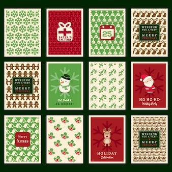 Kerst achtergrond van het patroon voor uitnodigingskaart