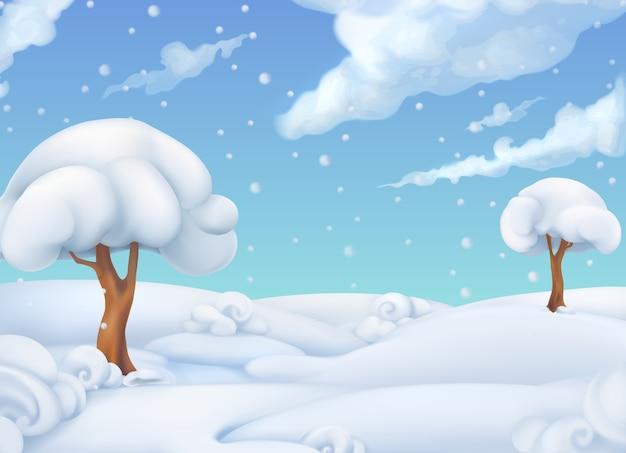 Kerst achtergrond. winter landschap.