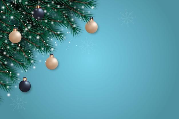 Kerst achtergronddecoratie met witgouden stijl