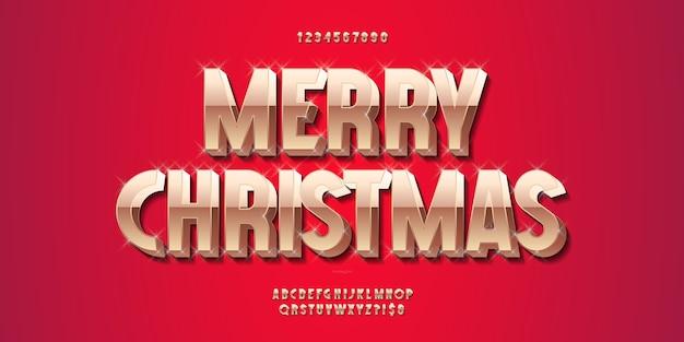 Kerst alfabet gouden illustratie
