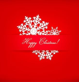 Kerst ansichtkaart met sneeuwvlokken.