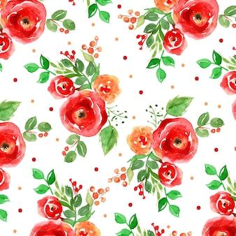 Kerst aquarel patroon achtergrond