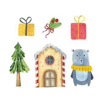 Kerst aquarel set