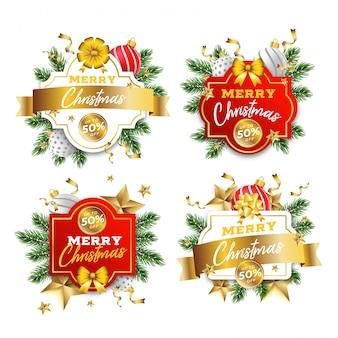 Kerst badge-collectie