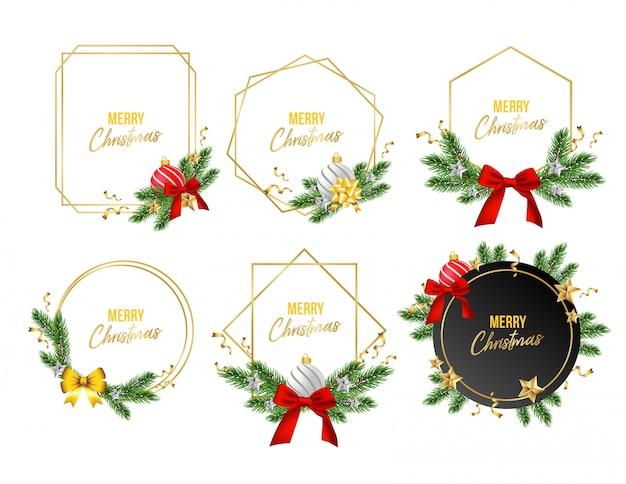 Kerst badge set