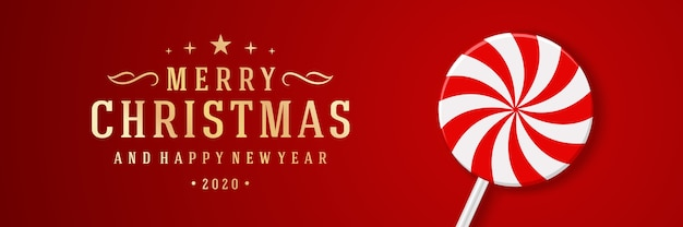 Kerst banner horizontale sjabloon