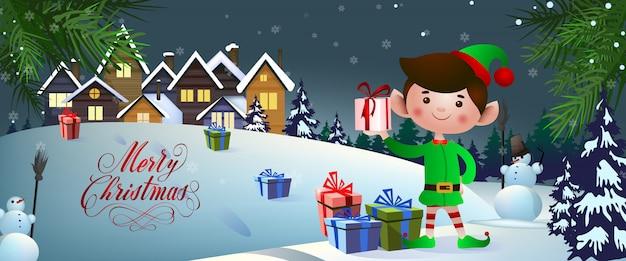 Kerst banner ontwerp