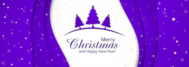 Kerst banner sjablonen met bomen