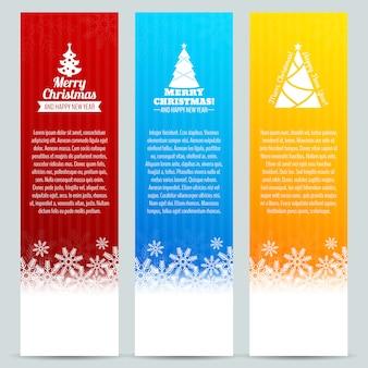 Kerst banner sjabloon set