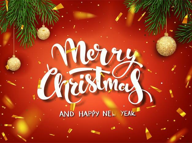 Kerst banner sjabloon.