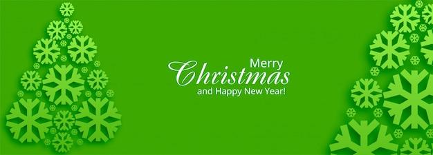 Kerst banner voor kerstboom
