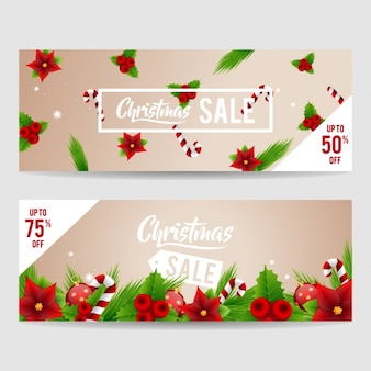 Kerst banners collectie