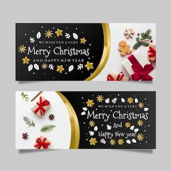 Kerst banners met foto
