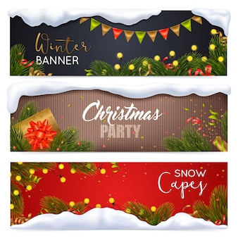 Kerst banners set