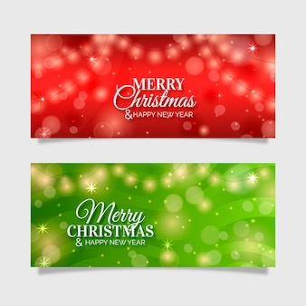 Kerst banners sjabloon