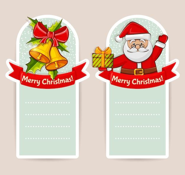 Kerst banners. te stellen.