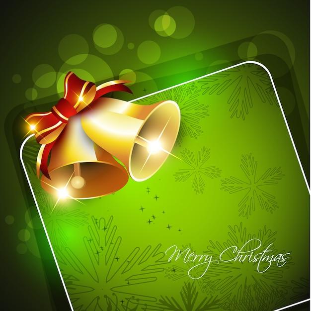 Kerst bel groen sjabloon