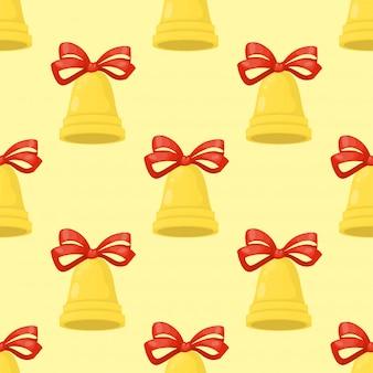 Kerst bel illustratie vakantie xmas naadloze patroon