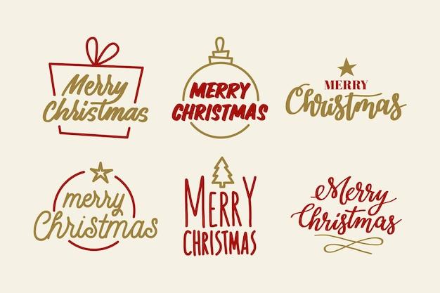 Kerst belettering badge collectie