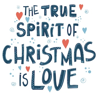 Kerst belettering citaat