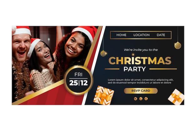 Kerst bestemmingspagina concept