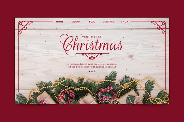 Kerst bestemmingspagina sjabloon