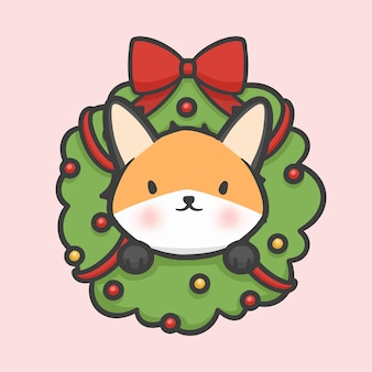 Kerst bloem krans decoratie