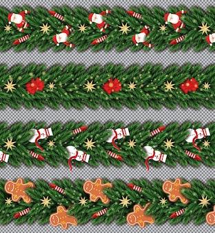Kerst border set