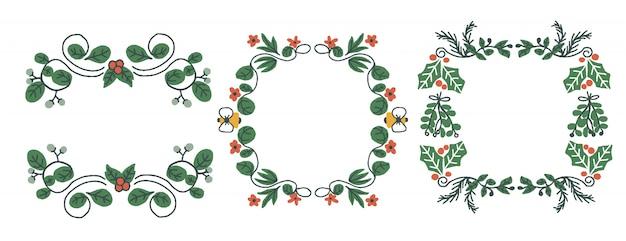 Kerst botanische frames