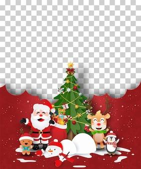 Kerst briefkaart van lege ruimte voor uw tekst of foto