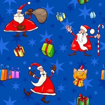 Kerst cartoon naadloze patroon decor