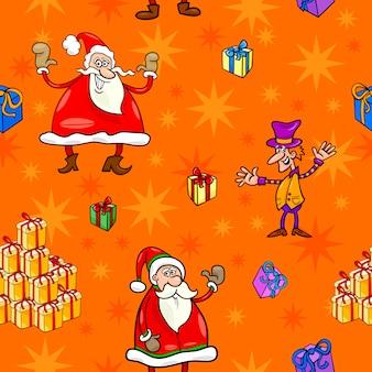 Kerst cartoon naadloze patroon papier