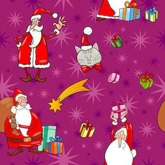 Kerst cartoon naadloze patroon tegel