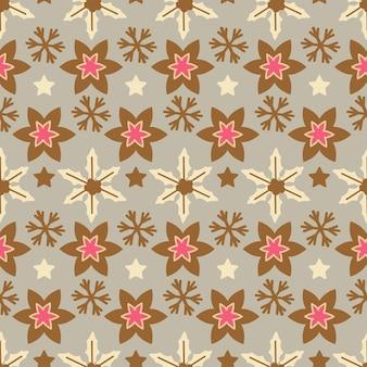 Kerst chique patroon. een van de 12 hygge naadloos. elegante decoratie voor de achtergrond van het vakantieseizoen. xmas eindeloze textuur voor behang, inpakpapier en etc