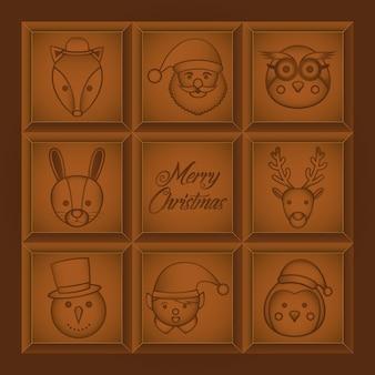 Kerst chocoladereep