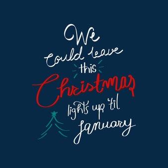 Kerst citaat typografie, feestelijke ontwerp vector