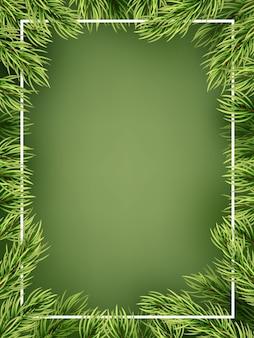 Kerst concept - gedetailleerd frame met spar.