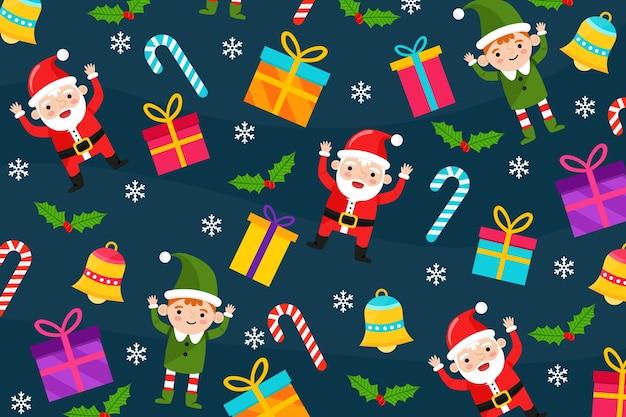 Kerst concept in plat ontwerp