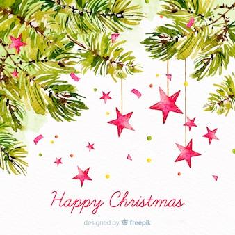 Kerst concept met aquarel achtergrond
