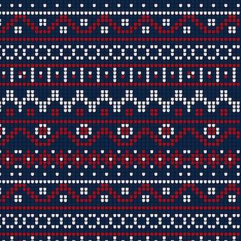 Kerst concept met gebreide patroon