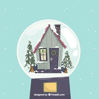 Kerst concept met huis
