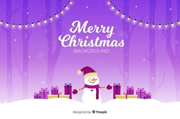 Kerst concept met platte ontwerp achtergrond