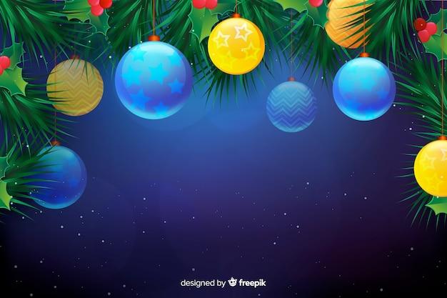 Kerst concept met realistische achtergrond