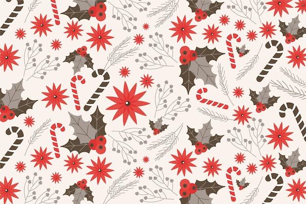 Kerst concept met vintage achtergrond