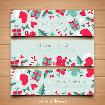 Kerst decoratie banner