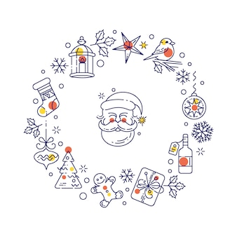 Kerst decoratie elementen