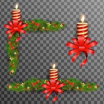 Kerst decoratieve elementen.